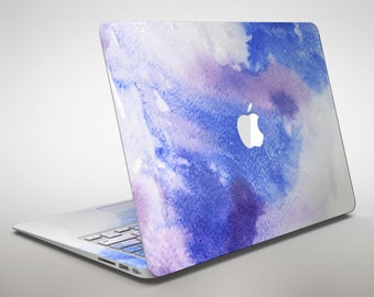 Blue and Pink Watercolor Spill - Apple MacBook Air or Pro Skin Decal Kit (All Versions Available)