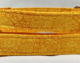 Sunshine Yellow Swirl Dog Collar