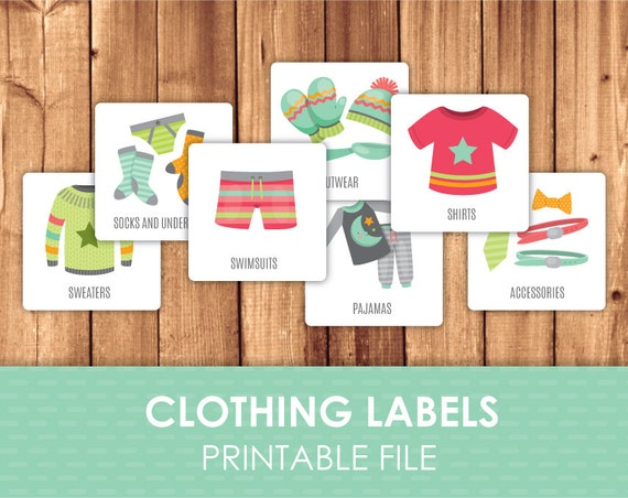 Zany image for clothing tags printable