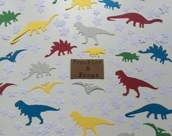 Dinosaurs & Stars Table Confetti Brights/White Birthday Party Dinosaur Theme