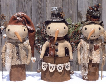 Primitive PATTERN Prim Canned Snowmen