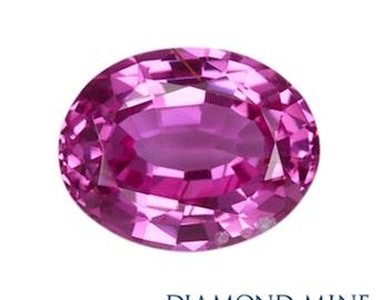 2.32 Carat Pink Sapphire, Oval cut Sapphire, Loose Sapphire Gemstone, Pink Gemstone, Non Heated Real Sapphire