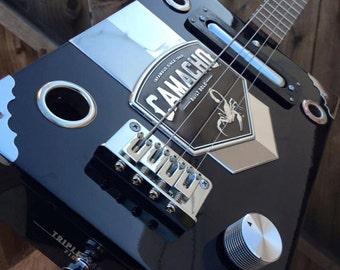 Custom Camacho Hot Box Pro Cigar Box Guitar by Funguy Mojo