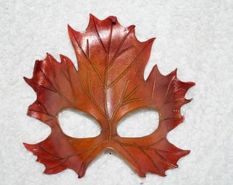 Red/yellow Maple leaf mask - this one available now