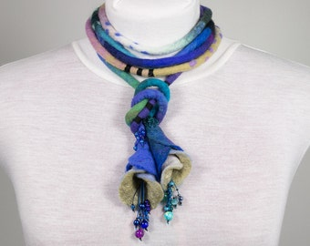 CUSTOM MADE Long long Felted Necklace