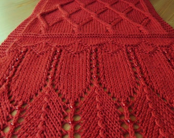 """Pattern to Knit textured Scarf """"Outrageous Ridges"""" Dk yarn"""