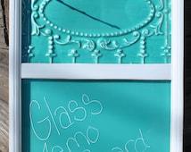 Memo Board Bulletin Board Antique Ceiling Tile Glass Memo Board Magnetic Memo Board M187