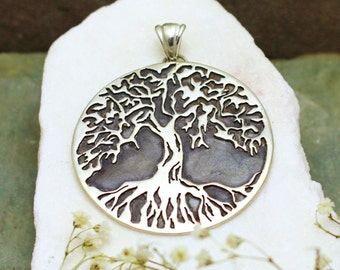 Sterling Silver Tree Cutout Pendant