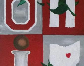 Ohio state buckeyes painting