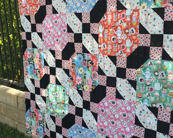 Alice's Crossroads Quilt Pattern PDF, Alice in Wonderland Quilt