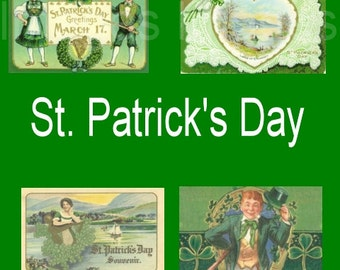 Printable St. Patrick's Day Images for Scrapbooking or making crafts 150 Single images Irish Clipart to make Greeting Cards