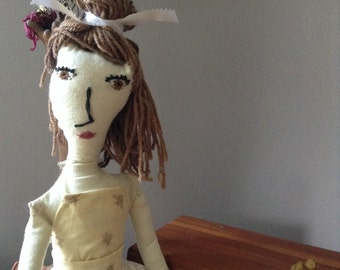 Personalized Doll - Custom Made Rag Doll - one of a kind - Handmade Doll (cream skin tone)