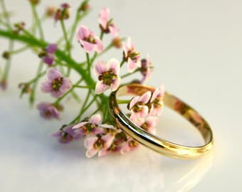 Midi Gold Ring-Gold Midi Band-Gold Statement Ring-Gold Ring Jewelry-Gold Band Jewelry-Handmade Gold Band