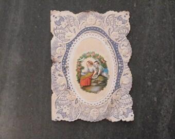 FREE SHIPPING Victorian Birthday Perfume Sachet 1800s Antique Perfume Sachet Victorian Birthday Perfume Holder Victorian Birthday Card 1800s