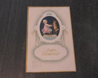 Antique P.S.Dresden Series No 4811 Easter Greetings Card Vintage  Easter Greetings Card Early 1900s Posted to Colorado, USA 1900s
