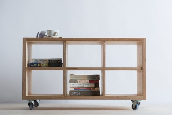 storage unit coffee table on wheels baltic by bee9designshop. Black Bedroom Furniture Sets. Home Design Ideas