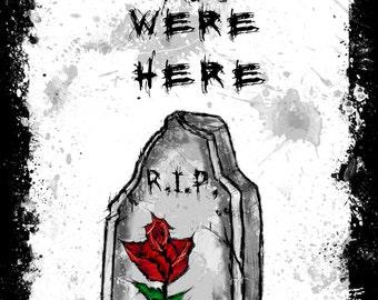 Wish you were here A4  Print