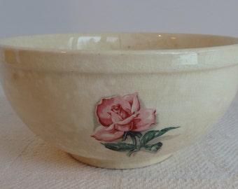 Shabby Rose Print Bowl, Thermocraft Ovenproof, Balerina, Rose Pattern Bowl