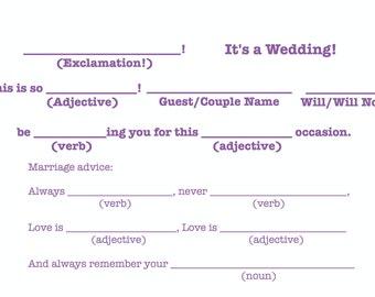 "Mad-Lib R.S.V.P ""It's a wedding!"" Template - Dark Purple"