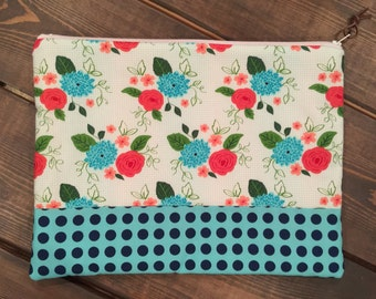 Zippered Pouch - Gooseberry Fabric