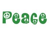 1 - Peace Vinyl Sticker- Indoor/ Outdoor