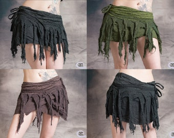 HIPPY TASSEL SKIRT Wrap Around Pixie Psytrance Festival Summer One Size: Regular