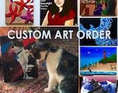 Custom Painting Order Deposit / Art Voucher