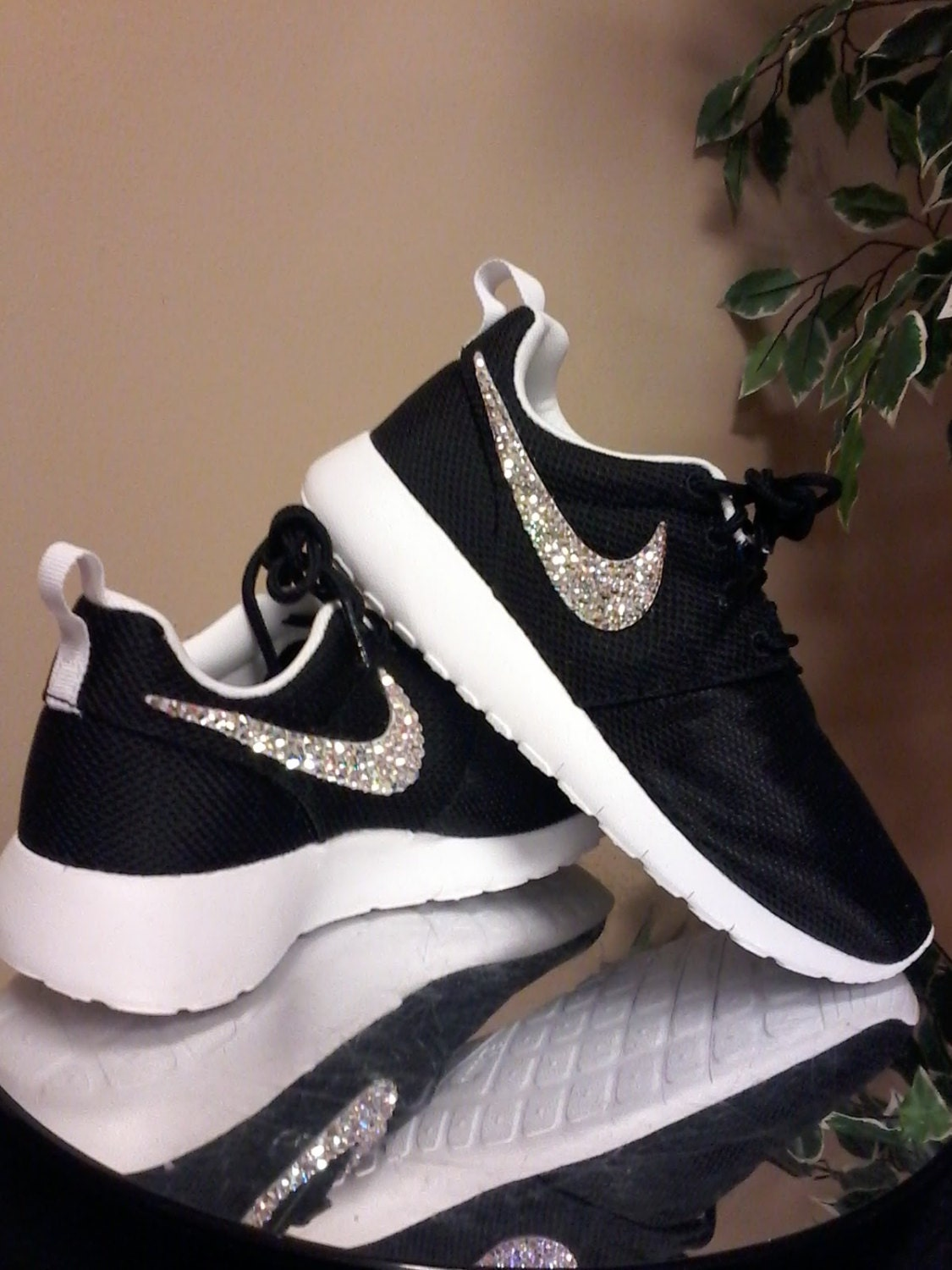 big sale 81ce2 c87a3 roshe nike bedazzle sneakers