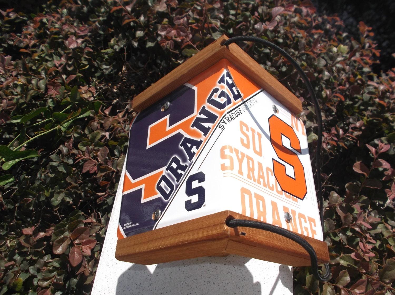 Syracuse University Two Sided Cedar Bird Feeder Si Series