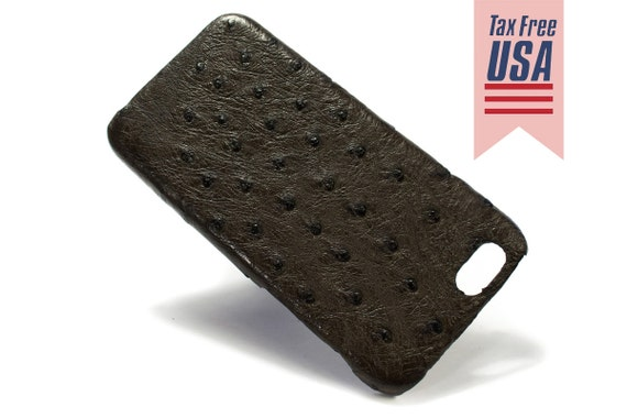 "NEW iPhone X Apple Genuine OSTRICH Leather Case for New iPhone 8 7  4.7"" o New iPhone 8 7 Plus 5.5"" 6 4.7"" & Plus 5.5"" Se 5s Choose Color"