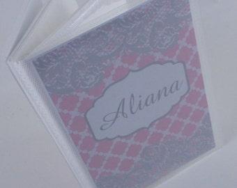 Grandmas Brag Book , Photo Book, Picture Album 4x6 or 5x7 Pink Lace 470