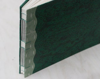 "Green Landscape Watercolor Journal - Large Size Artist Sketchbook - 11""x8"""