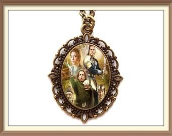 Willow Cameo Necklace / Madmartigan Willow Ufgood Queen Bavmorda Sorsha fantasy film movie