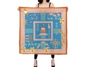 Summer Day Silk Scarf - square scarf- silk accessories - perfect gift for her