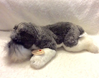 Vintage Russ Berries Yomiko Classics Schnauser dog stuffed animal.