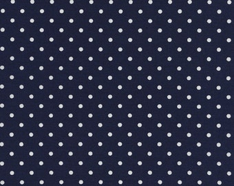Timeless Treasures Navy Blue Dot, Fabric by the Yard