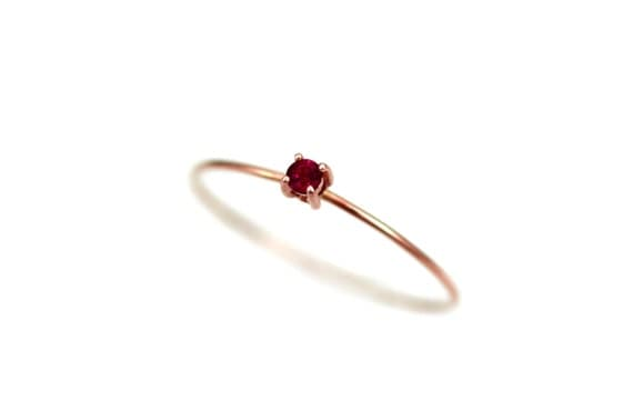 ruby ring gold ruby engagement ring simple thin birthstone