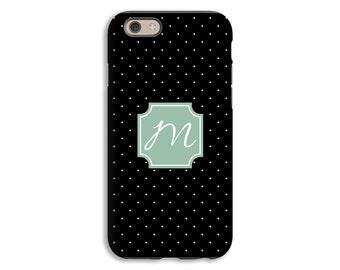Monogram iPhone 6s case, black and white iPhone 6s plus case, custom iPhone SE case, iPhone 5s case, iPhone 6 tough case, 3D iPhone case
