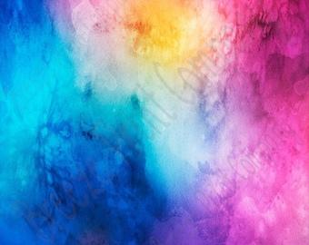 Watercolor pattern printed craft  vinyl sheet - HTV or Adhesive Vinyl -  pink blue aqua yellow purple  HTVWC3