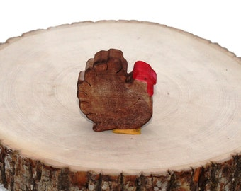 Gobble the Turkey Wooden Toy - Natural Eco Friendly Waldorf Wood Toy