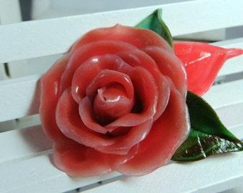 Мintage caramel rose, polymer clay flower, flowers for decor