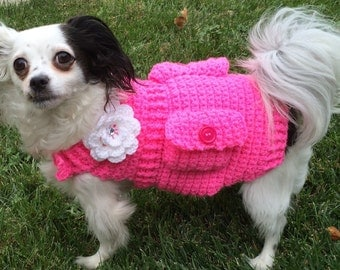Crochet doggie sweater, doggie fashion sweater, doggie fashionista, doggie diva