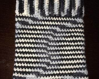 Crochet ipad cover, crochet tablet cover, crochet ipad cozy, crochet tablet cozy, crochet ipad case, (zebra print), READY TO SHIP