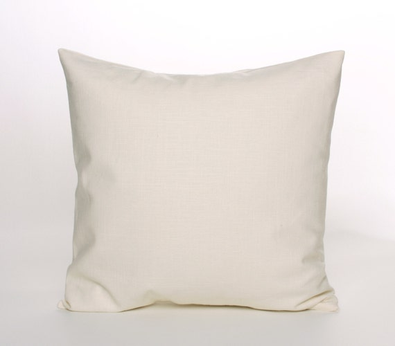 Cream Linen Throw Pillows : Cream Linen Throw Pillow Cover 16 18 or 20 inch Cover Home