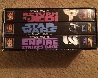 Star Wars Trilogy VHS boxed