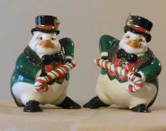 Fitz and Floyd Essentials Holiday Penguin Salt and Pepper Shakers