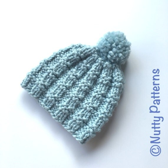 Knitting Pattern Lee Hat Beanie Straight by nuttypatterns