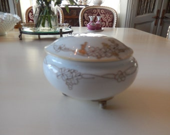 JAPAN Nippon Footed Bowl with Lid