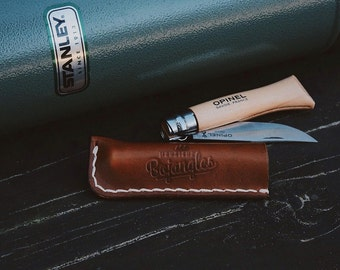 Leather Sheath/Sleeve For Opinel No. 6 Pocketknife