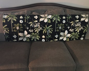 Tropical valances with Waverly Williamsburg fabric, fully lined, 100% cotton
